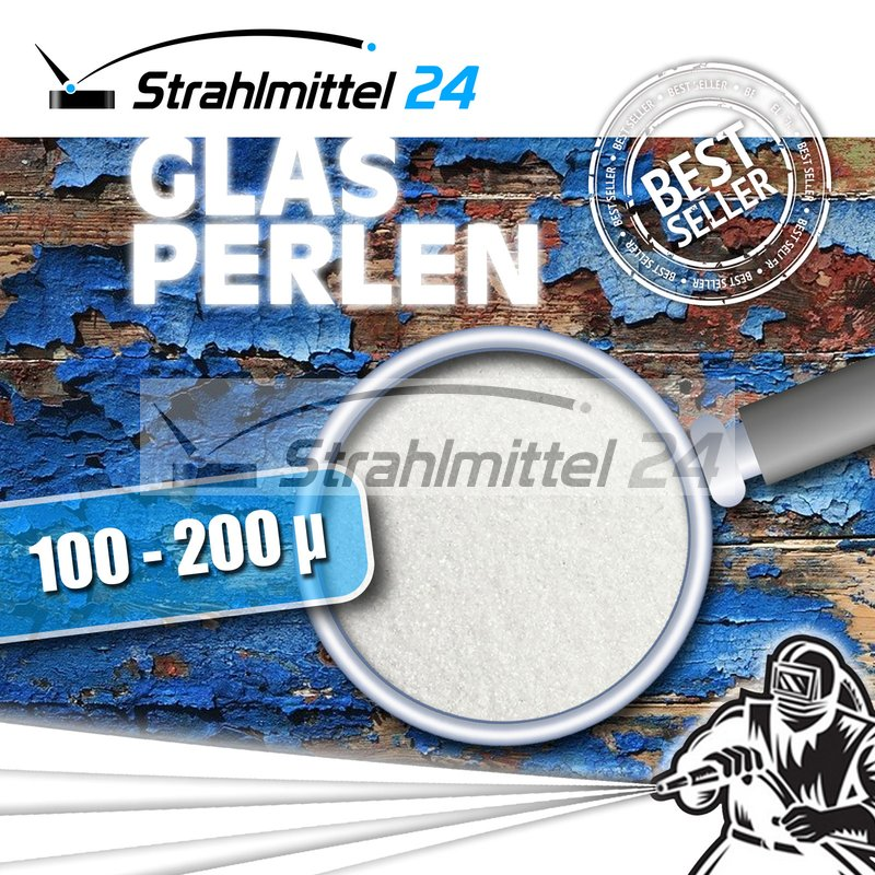 600-800 /µm 25 kg Strahlmittel Glasperlen Strahlglasperlen
